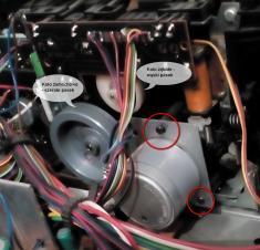 MDS-506 widok na silniczek i napęd kieszeni zdjęcie
